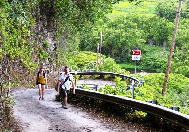 Waipio Valley Road - Steep road