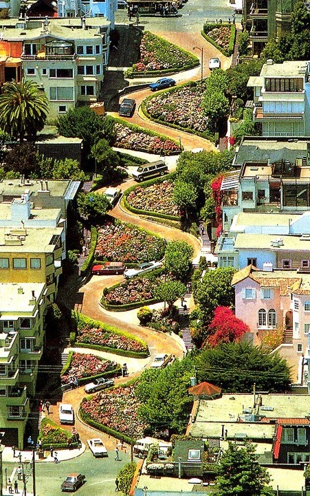 Lombard Street - Aerial view