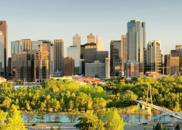 Calgary -  Beautiful modern city with glittering skyscrapers
