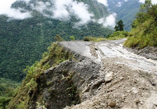 The Old Yungas Road  - Muddy surface