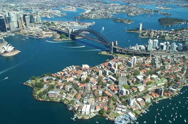 Sydney - Aerial view on the harbor