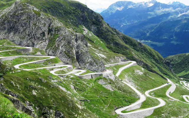 The Stelvio Pass Road - A serpentine path
