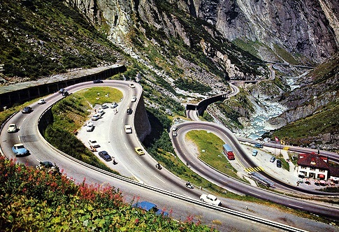 The Gotthard Pass-mysterious road in Switzerland - Spectacular road