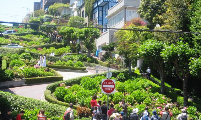The Lombard Street  - Crowds of tourists