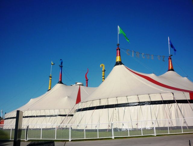 "The Circus ""Oz"" of Australia-the most unusual circus - The circus tent"
