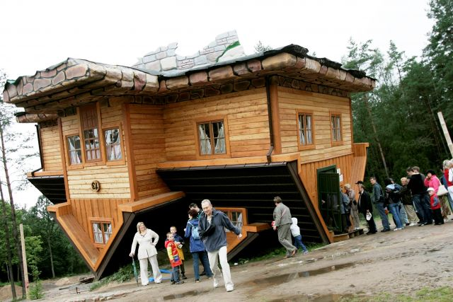 The Upside-Down House - Unusual building