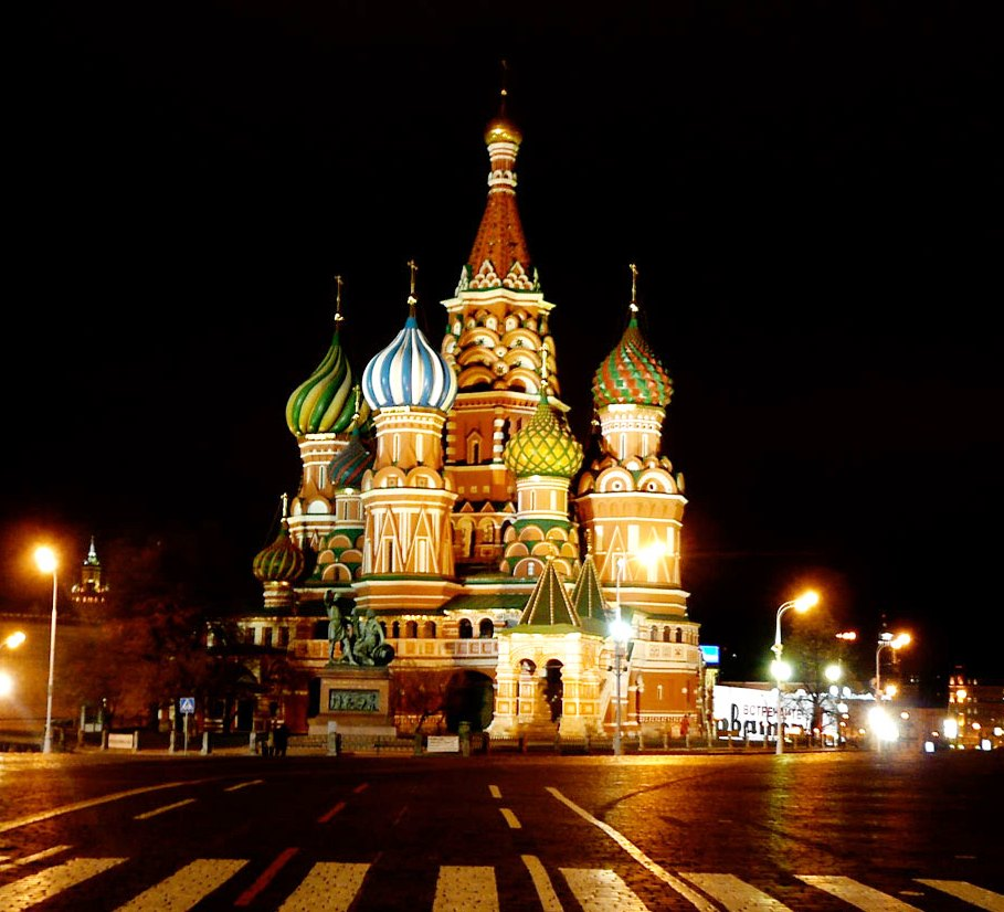 St. Basil's Cathedral - During the night