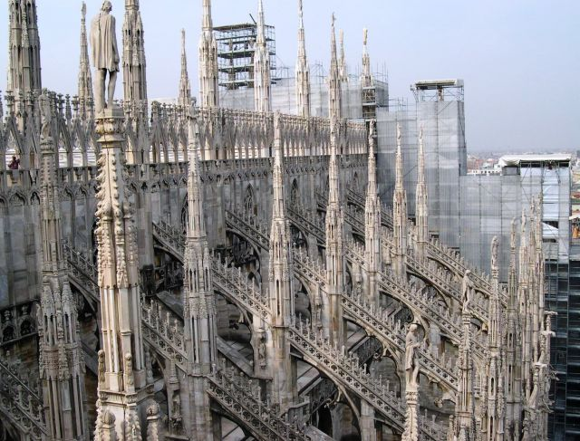 Milan Cathedral - The roof