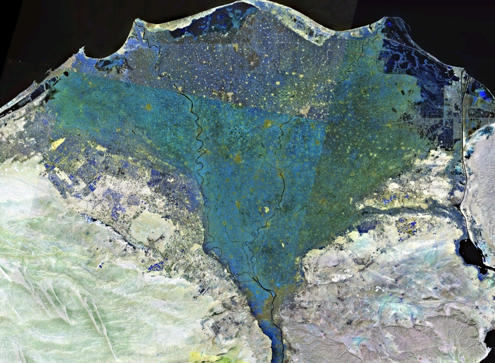 The Nile - The Nile Delta seen from the universe