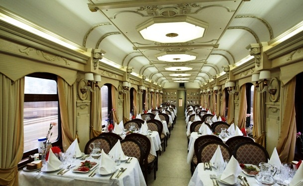 Golden Eagle Trans-Siberian Express - Amazing restaurant