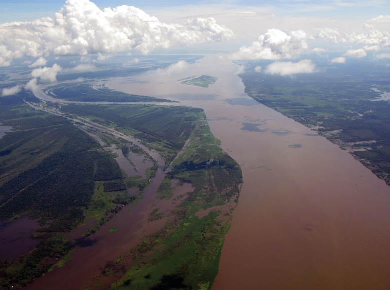 The Amazon River - Aerial view