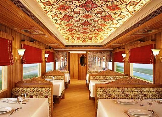 Maharajas express the most luxury trains in the world for World s most beautiful dining rooms