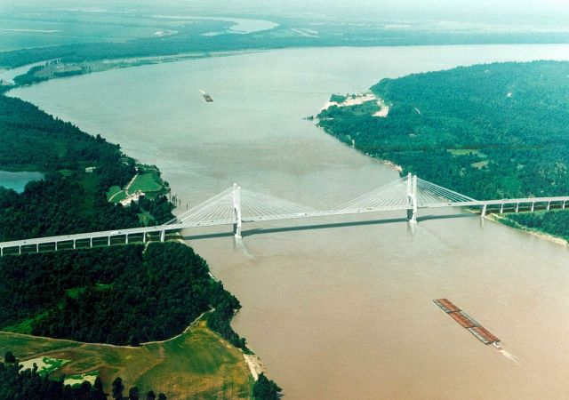 The Mississippi  - A full-flowing river