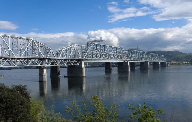 The Yenisei River - Railway bridge