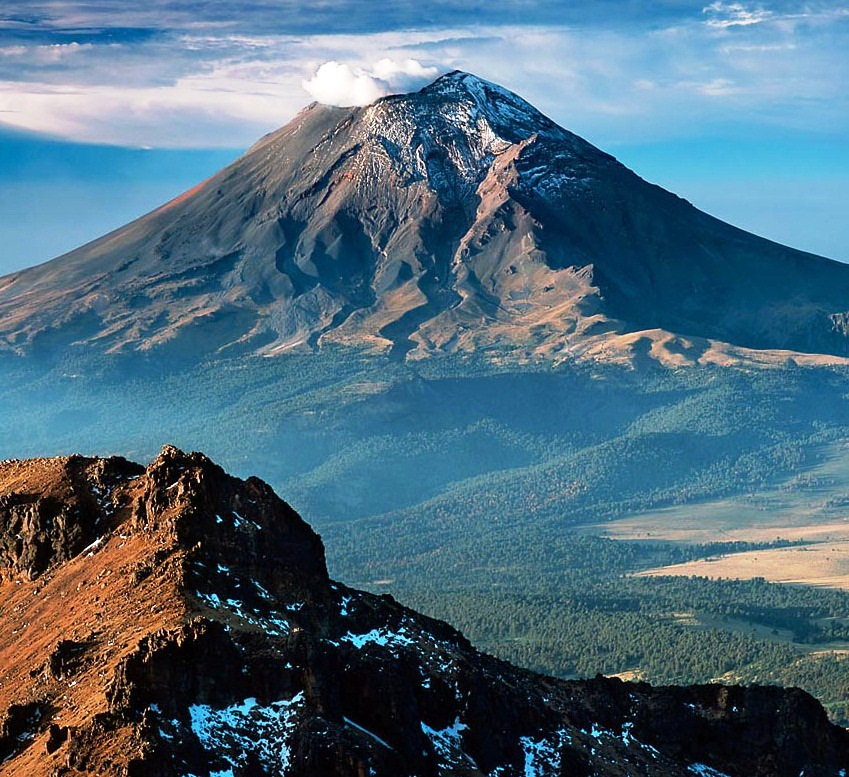 Popocatepetl Peak - Active volcano