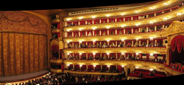 Moscow Bolshoi Theatre - The theatre inside