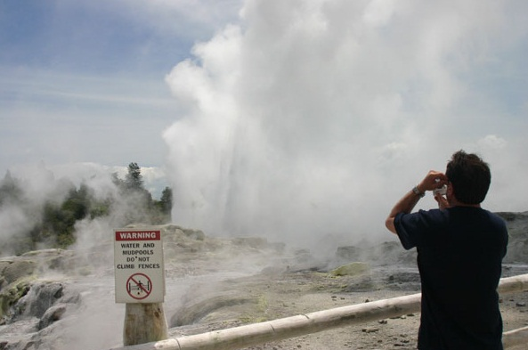 The Pohutu Geyser, Rotorua, New Zealand - Attractive place