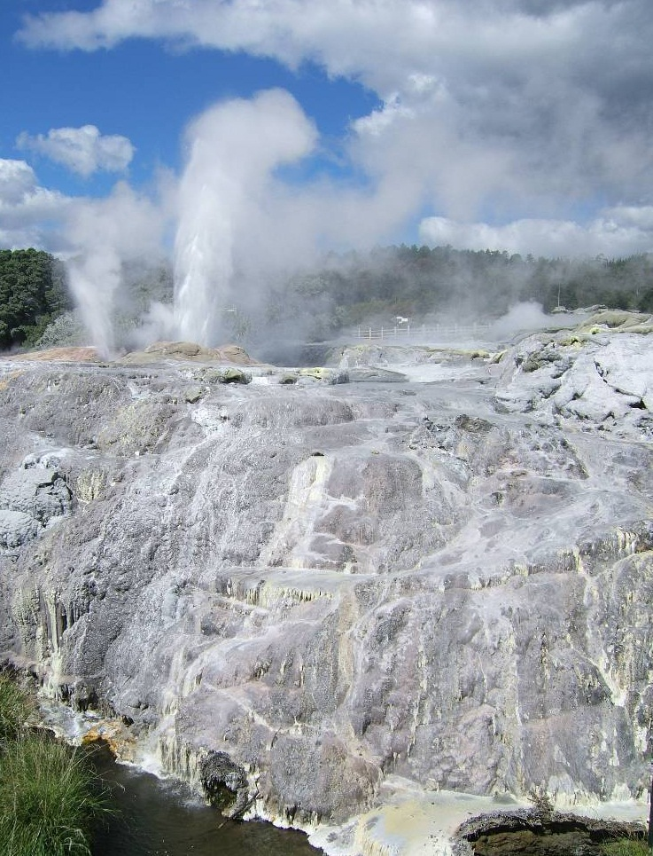 The Pohutu Geyser, Rotorua, New Zealand - Unique place