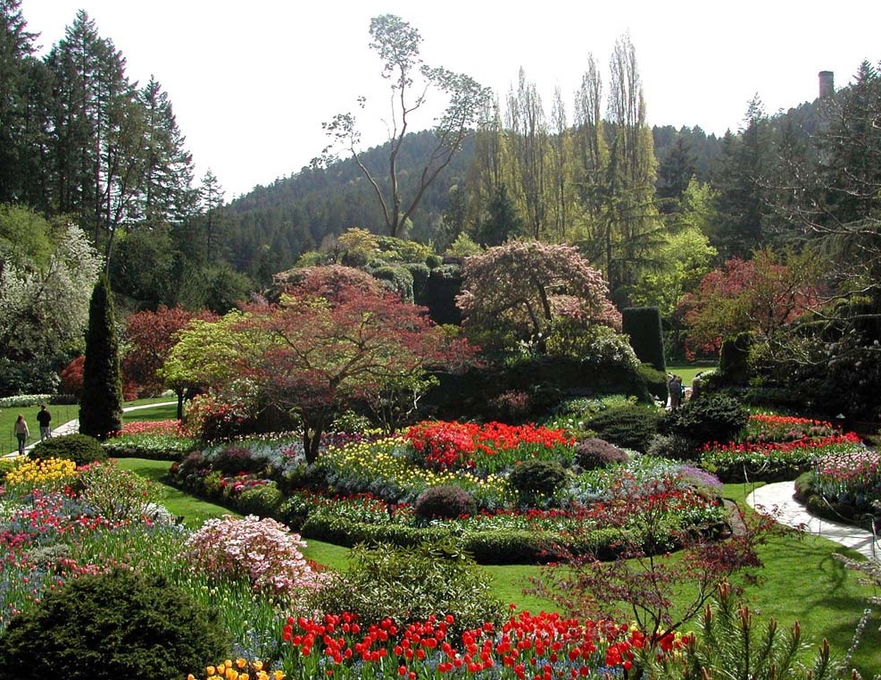 The Butchart Gardens - Spectacular view