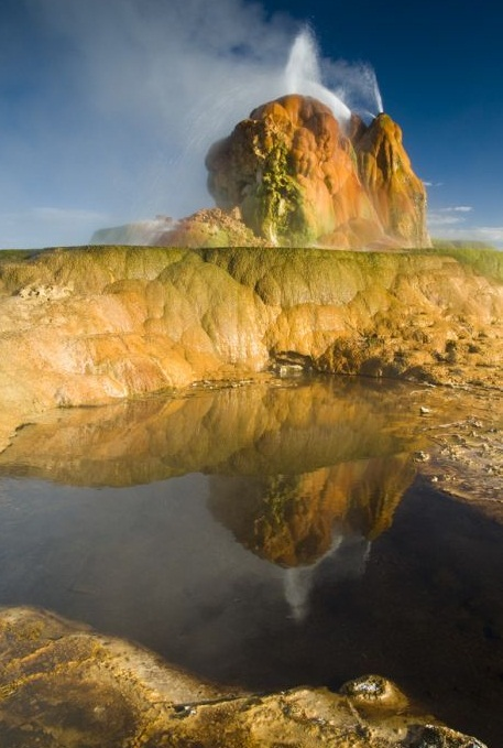 The Fly Geyser, Nevada, U.S.A. - Spectacular looking geyser