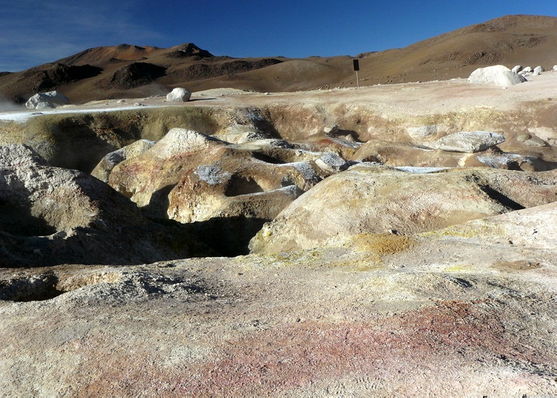 Sol de Manana Geyser, Bolivia - Impressive collection of mud pots