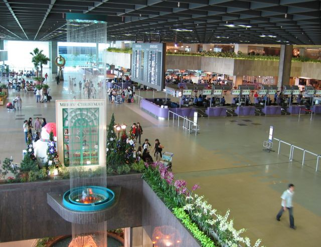 Changi Airport in Singapore - Interior view