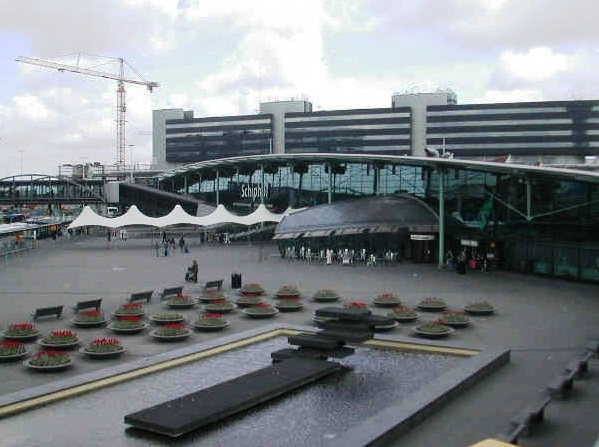 Schiphol Airport in Amsterdam - Exterior view