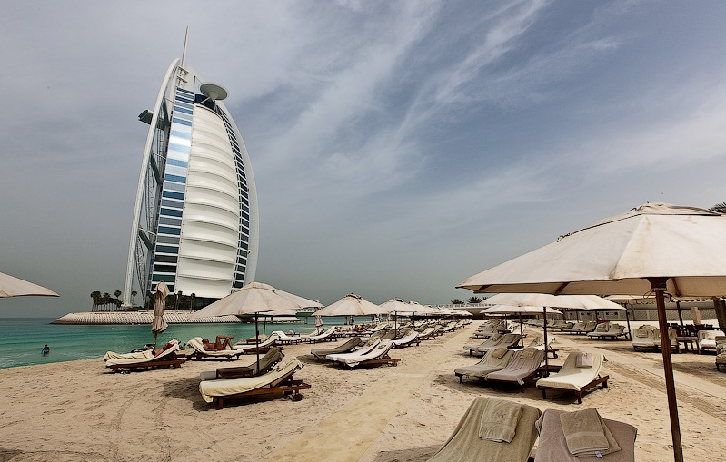 The Burj- al-Arab Hotel, Dubai - The beach of the hotel