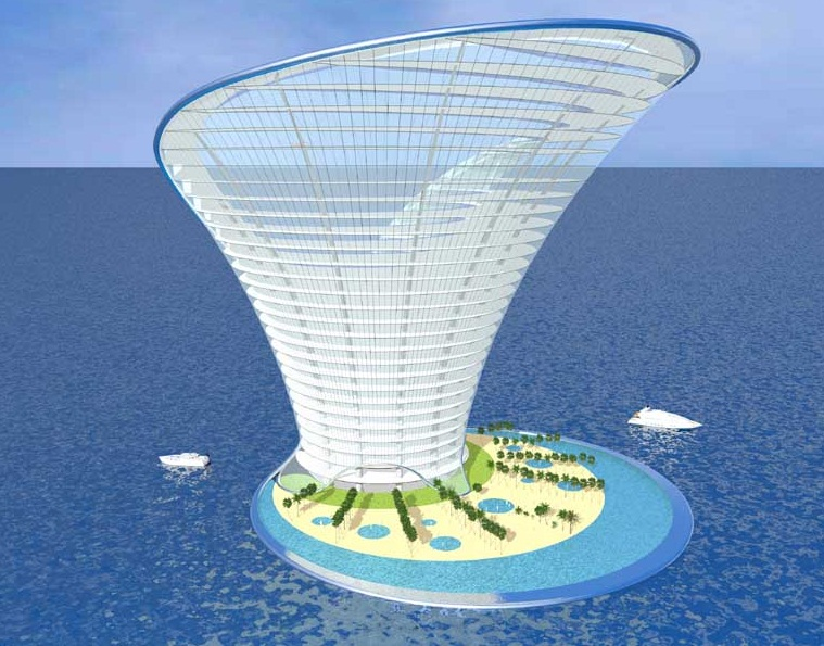 The apeiron island hotel dubai the most futuristic for Big hotel in dubai