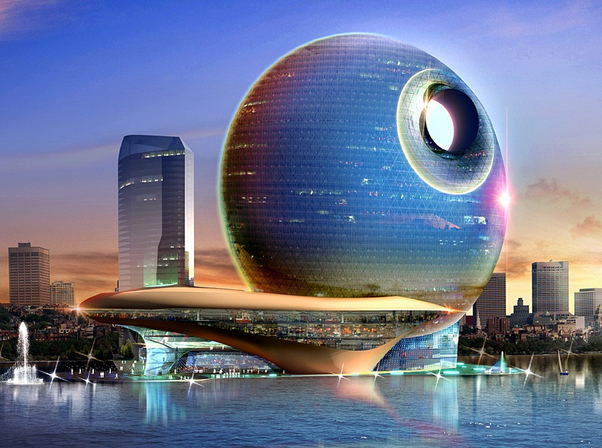 Death Star Hotel, Baku, Azerbaijan - Extraordinary architecture