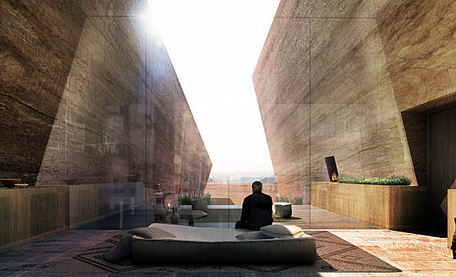 Wadi rum desert lodge jordan the most futuristic luxury hotels in the world - Villa decor desert o architecture ...