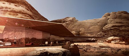 Wadi Rum Desert Lodge, Jordan - Picturesque wilderness of rocks