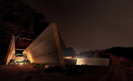 Wadi Rum Desert Lodge, Jordan - Room designed in the rock