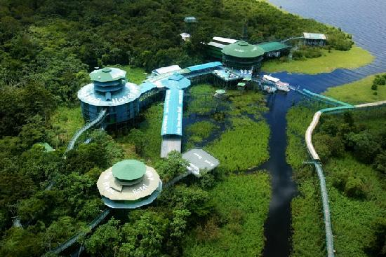 Ariau Amazon Towers Hotel, Brazil - Aerial view