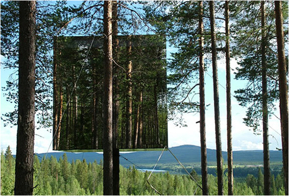 Tree hotel, Sweden - The Mirror Cube