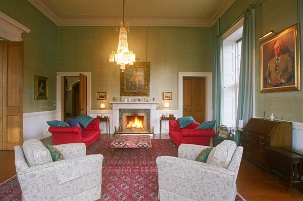 Blairquhan Castle, Scotland - The living room