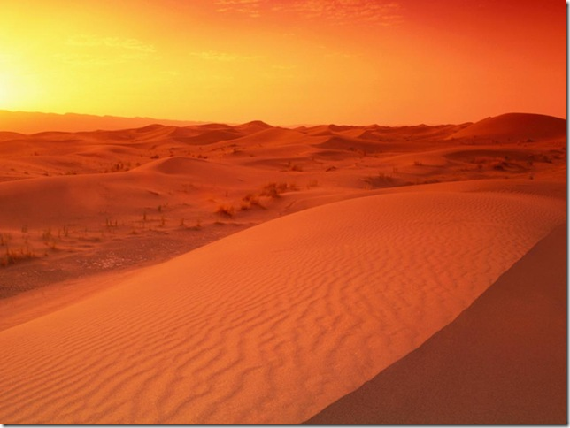 The Sahara Desert, North Africa - Indescribable sunset