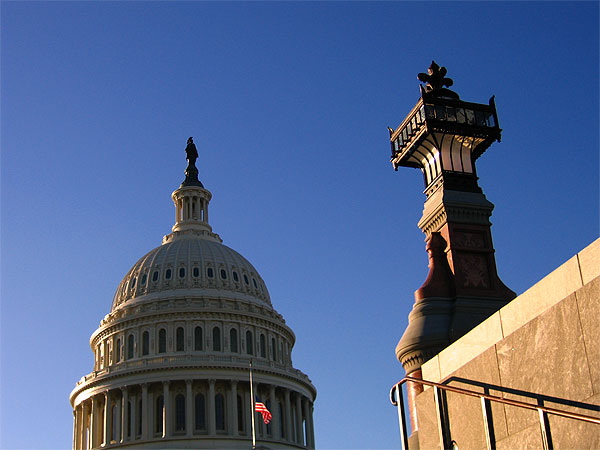 The Capitol, Washington D.C. - Picturesque view of the top