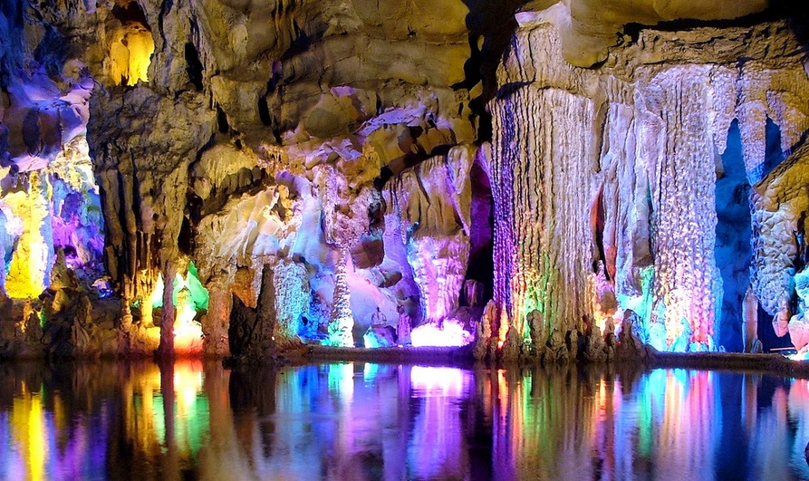 Reed Flute Cave, China - Impressive view