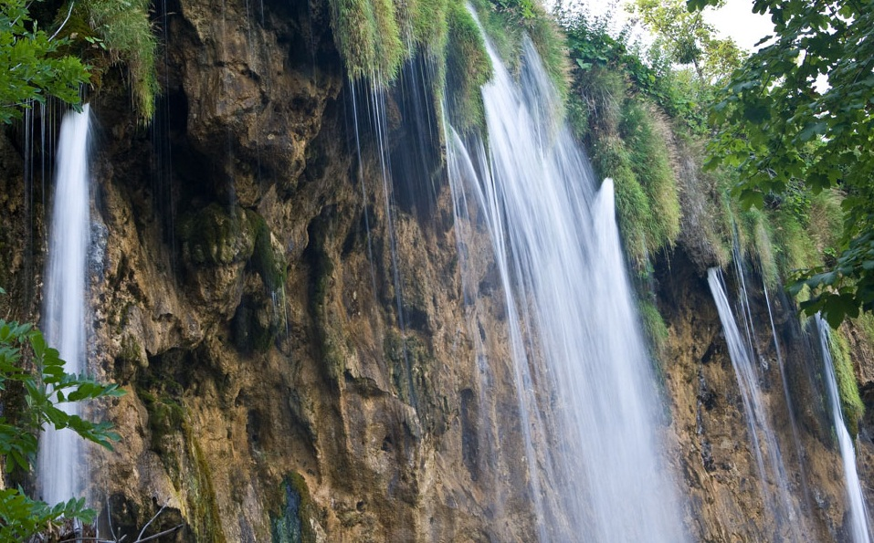 The Plitvice Lakes National Park - Impressive cascade