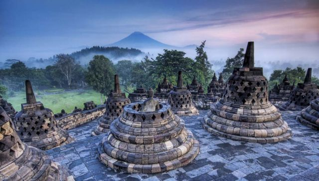 The Island of Java - The Famous Borobudur