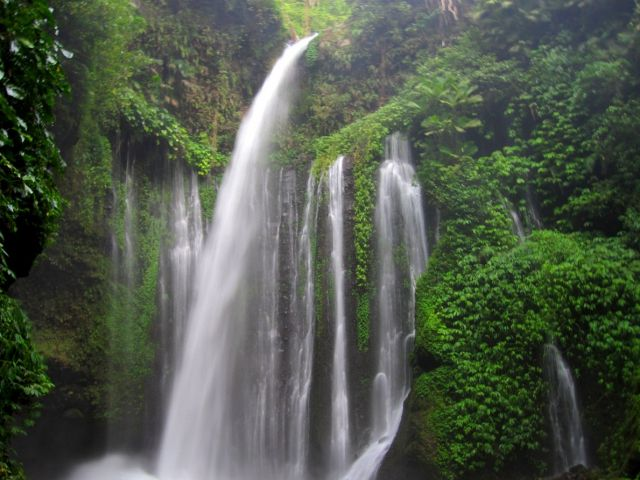 The Island of Lombok - Beautiful waterfall