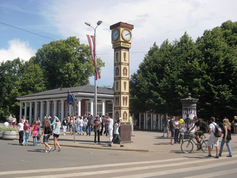 The Laima Clock - Open air column