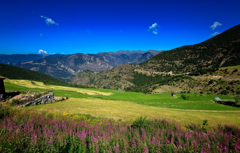 Pyrenees Mountains - Beautiful panorama of the Pyrenees Mountains
