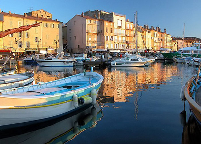 French Riviera - A port in French Riviera