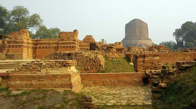 Varanasi -  The City of Life and Death - Dhamek Stupa