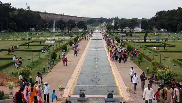 Mysore - A City of Palaces  -  The Brindavan Park