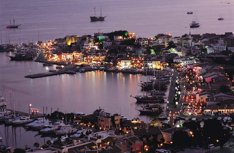Marmaris in Turkey - Marmaris night view