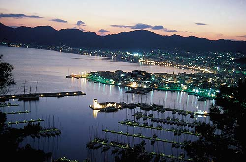 Marmaris in Turkey - Night view of Marmaris
