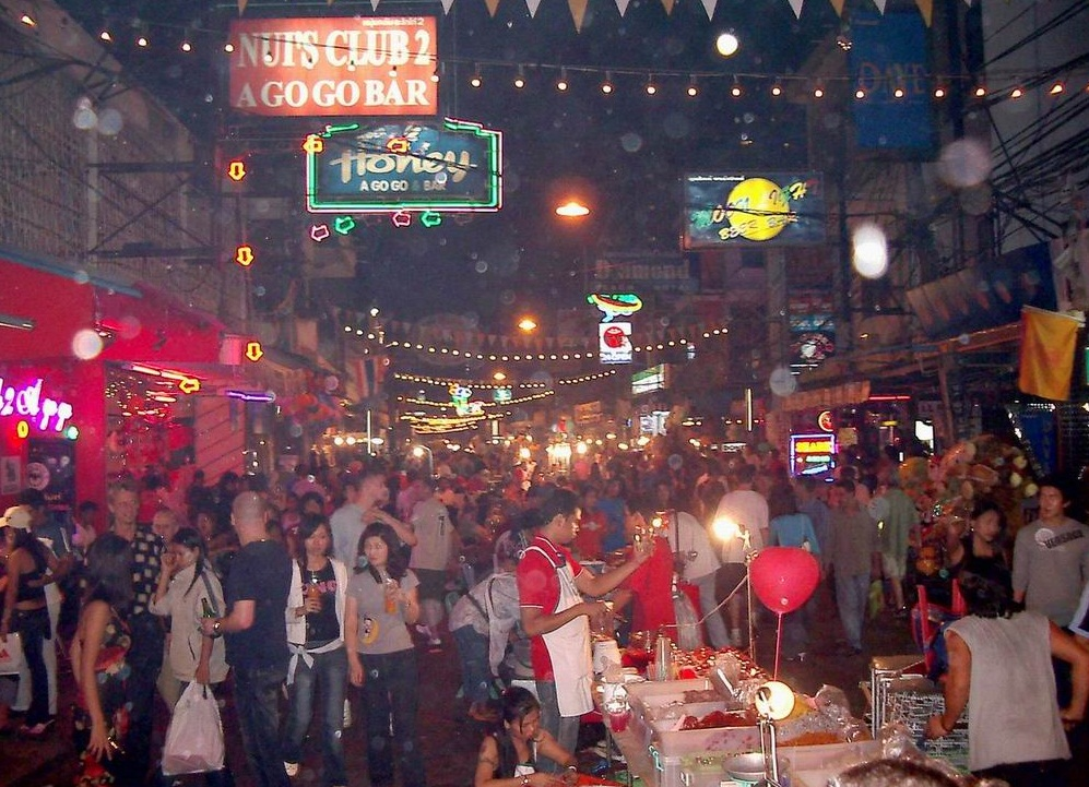 Pattaya- the  center of sex tourism in Thailand - Walking Street
